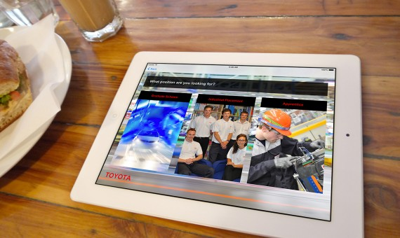 iPad App for Toyota Recruitment Application Process