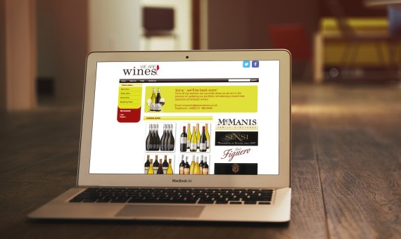 E-commerce Website for We Are Wines
